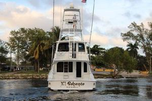 60' Hatteras Enclosed Bridge 2002 Stern