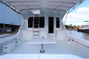 60' Hatteras Enclosed Bridge 2002 Cockpit