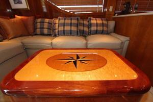 60' Hatteras Enclosed Bridge 2002 Salon Table
