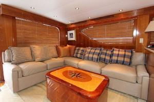 60' Hatteras Enclosed Bridge 2002 Salon Settee