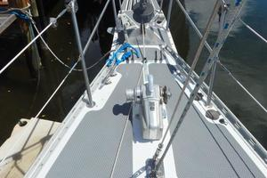 52' Creekmore Full Keel Cutter 2002 Bow Deck Forward