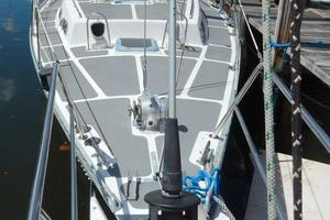 52' Creekmore Full Keel Cutter 2002 Bow Looking Aft