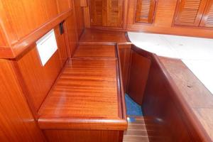 52' Creekmore Full Keel Cutter 2002 Master Stateroom Storage