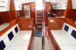52' Creekmore Full Keel Cutter 2002 Salon Looking Aft