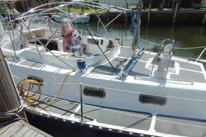 52' Creekmore Full Keel Cutter 2002 Port Aft Deck & Cockpit