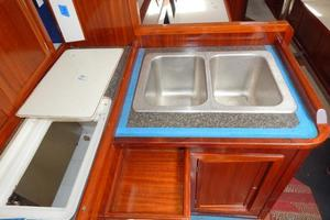 52' Creekmore Full Keel Cutter 2002 Galley Sinks
