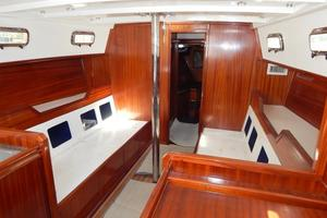 52' Creekmore Full Keel Cutter 2002 Salon Looking Forward