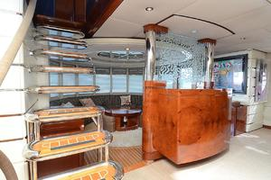 87' Oceanfast 87 2000 Stairs to Pilothouse