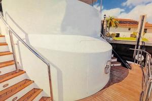 87' Oceanfast 87 2000 Transom - Stairs to Cockpit