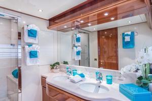 94' Ferretti Yachts  2004 Master Bathroom