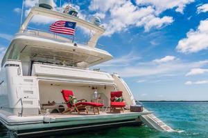 94' Ferretti Yachts  2004 Transom