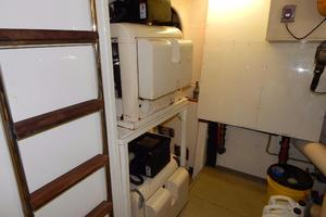 94' Ferretti Yachts  2004 Engine Room