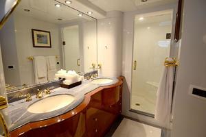 105' Intermarine  2000 Master Bathroom