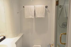 105' Intermarine  2000 Port Guest Bathroom