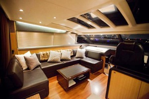 62' Princess V62 2011 Saloon at Night