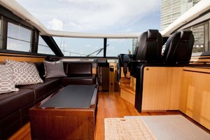 62' Princess V62 2011 Saloon Overhead Open