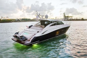 62' Princess V62 2011 Starboard Aft Quarter with Lights