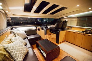 62' Princess V62 2011 Saloon and Helm at Night