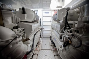 62' Princess V62 2011 Engine Room