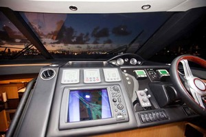 62' Princess V62 2011 Helm Instruments at Night