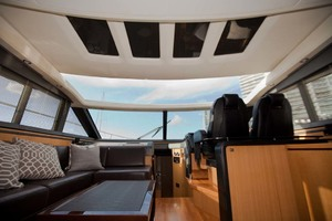62' Princess V62 2011 Saloon Overhead