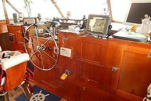 58' Trumpy motor yacht 1970 Steering station