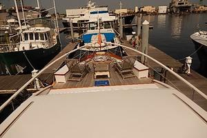 58' Trumpy motor yacht 1970 Looking fwd from coach roof