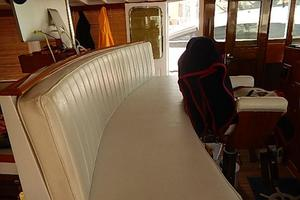 58' Trumpy motor yacht 1970 Recent leather helm seat