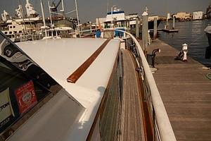 58' Trumpy motor yacht 1970 Wide walk-around decks