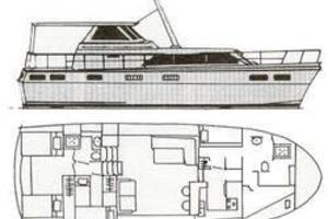 47' Concorde Motor Yacht 1972 Lay out