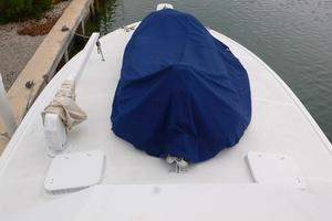 42' Hatteras Convertible Sportfish 1977 Covered Dinghy and davit