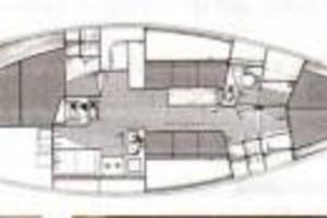 41' Carroll Frers 41 1988 Manufacturer's Interior Layout