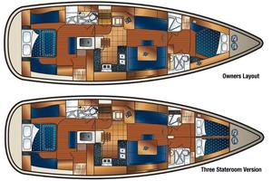 50' Hunter 50 Center Cockpit 2014 Layout