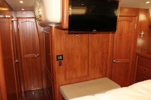 50' Hunter 50 Center Cockpit 2014 Master suite looking aft