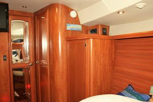 50' Hunter 50 Center Cockpit 2014 Guest cabin looking aft and to port