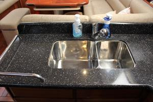 50' Hunter 50 Center Cockpit 2014 Polished stainless steel sinks