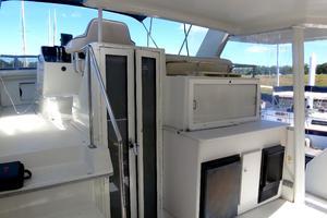44' Carver 440 Aft Cabin Motor Yacht 1995 Aft deck-wet bar, refrigerator & icemaker