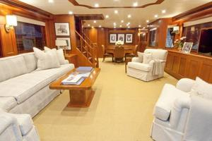 90' Offshore Yachts 80/85/90 Voyager 2019 Salon Looking Forward