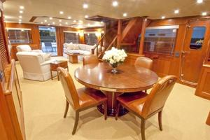 90' Offshore Yachts 80/85/90 Voyager 2019 Salon Looking Aft