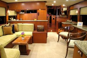 72' Offshore Yachts 66/72 Pilothouse 2019 Salon Looking Forward