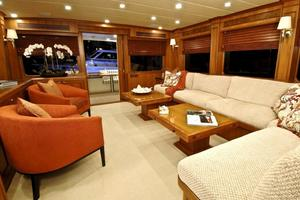 80' Offshore Yachts 76/80 Motoryacht 2019 Salon Looking Aft