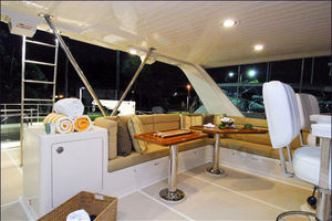 76' Offshore Yachts Motoryacht 2010 Flybridge looking aft