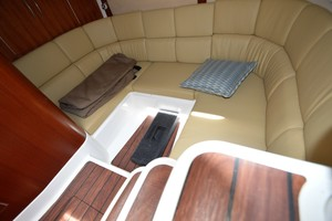 Edgewater 335EX Express Aft Cabin Seating