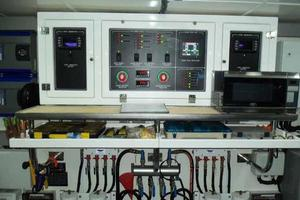 108' Johnson 108 FB Custom 2016 Engine Room Electrical & Fuel Manifold