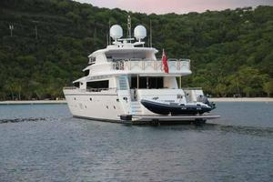 108' Johnson 108 FB Custom 2016 At Anchor