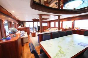 108' Johnson 108 FB Custom 2016 Dining Looking Aft to Starboard