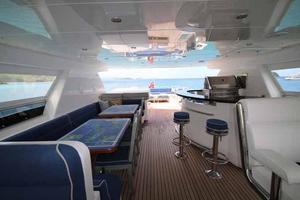 108' Johnson 108 FB Custom 2016 Flybridge Looking Aft