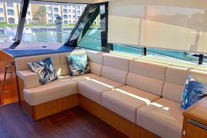 57' Riviera 57 Enclosed Flybridge- Available Now! 2017 Riviera57EnclosedFlybridgeSettee
