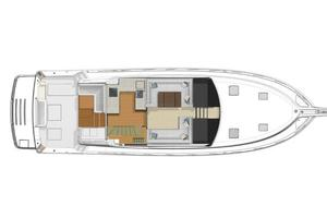 57' Riviera 57 Enclosed Flybridge- Available Now! 2017 Riviera 57 Enclosed Flybridge Deck Layout