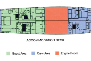 102' Palmer Johnson Cockpit Motoryacht 1980 Accommodation Deck Drawing